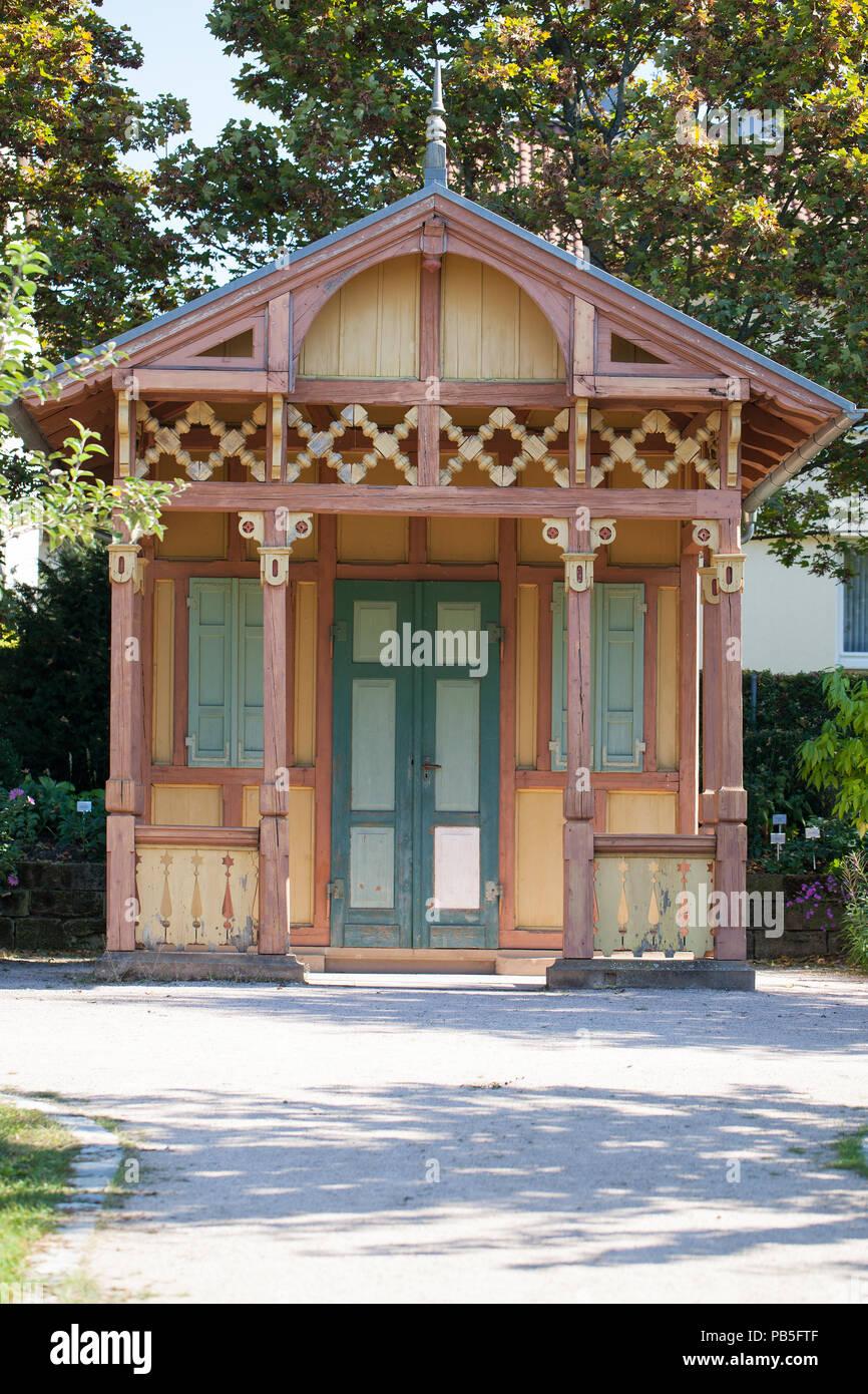 Antike Holz Garten Hütte Eingerichtet Stockfoto Bild 213407839 Alamy