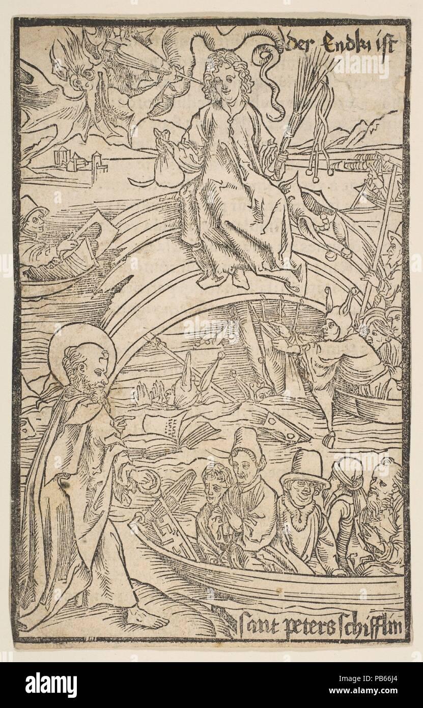 Abbildung: von Sebastian Brandt, Das Narrenschriff. Künstler: Albrecht Dürer (Deutsch, Nürnberg 1471-1528 Nürnberg). Datum: n. d.. Museum: Metropolitan Museum of Art, New York, USA.Stockfoto
