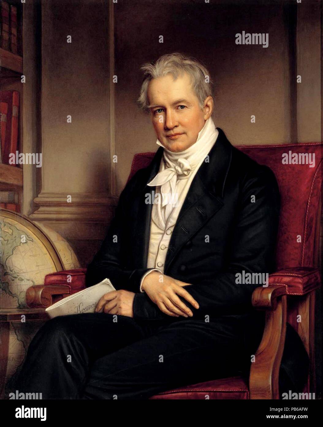 Alexander von Humboldt, 1843 Stockbild