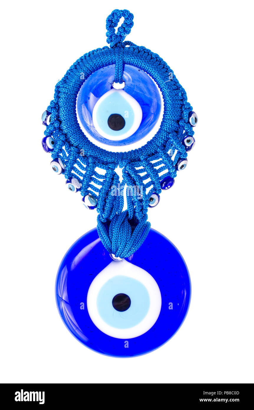 Blau traditionelle Amulett aus den bösen Blick. Studio Foto