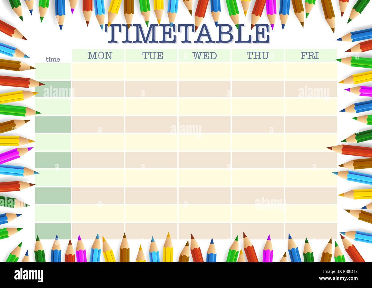 Fantastisch Schule Zeitplan Vorlage Galerie - Beispiel ...