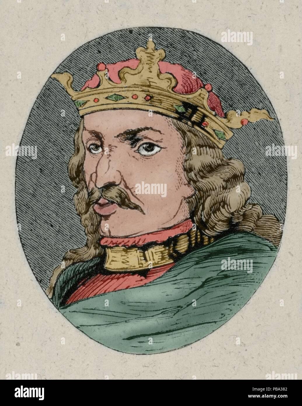 Enrique IV (Valladolid, 1425 - Madrid, 1474). Rey de Castilla (1454 ...