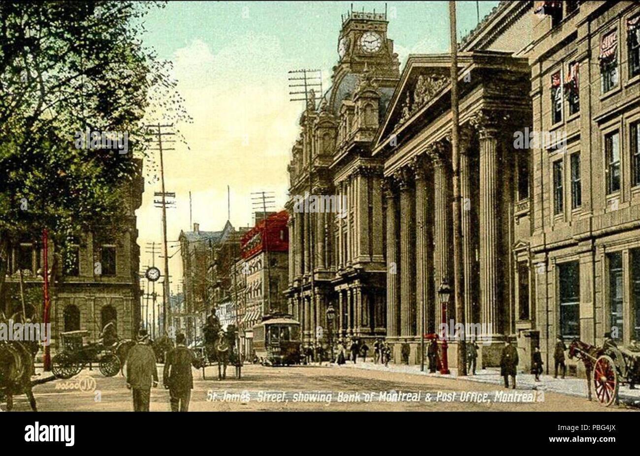 Englisch: postkarte von st. james street rue saint jacques in