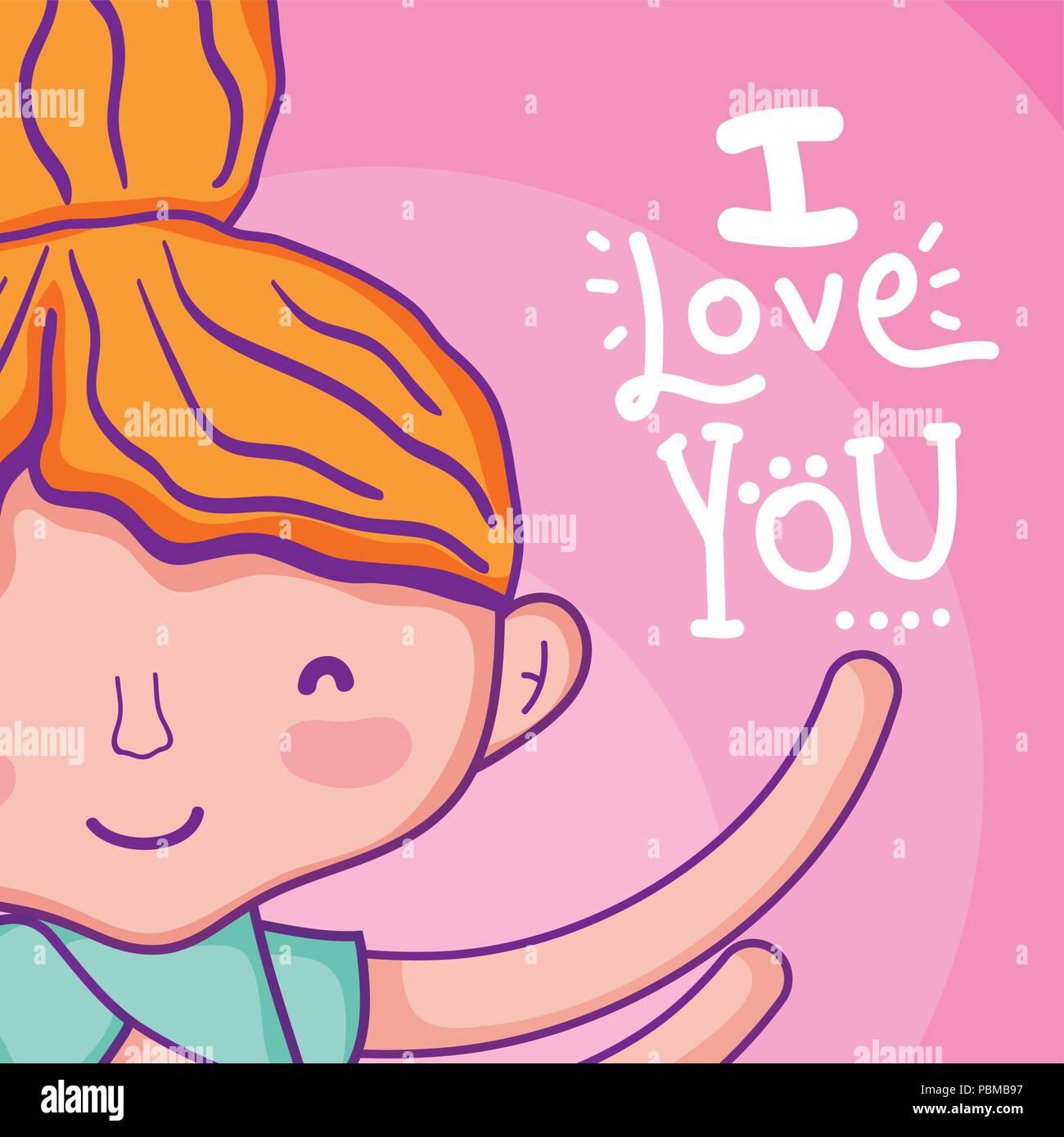 Ich liebe Sie Karte Stockbild