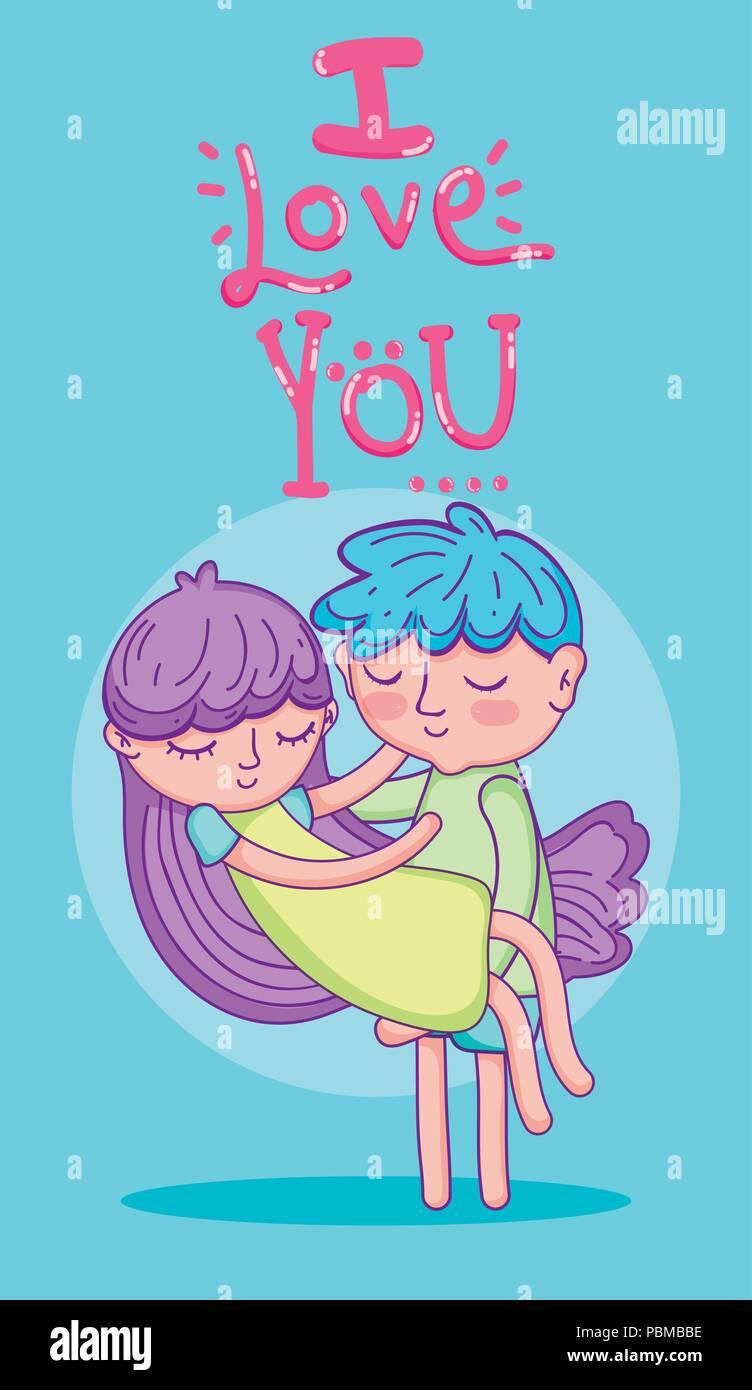 Liebe und Kids Card Stockbild