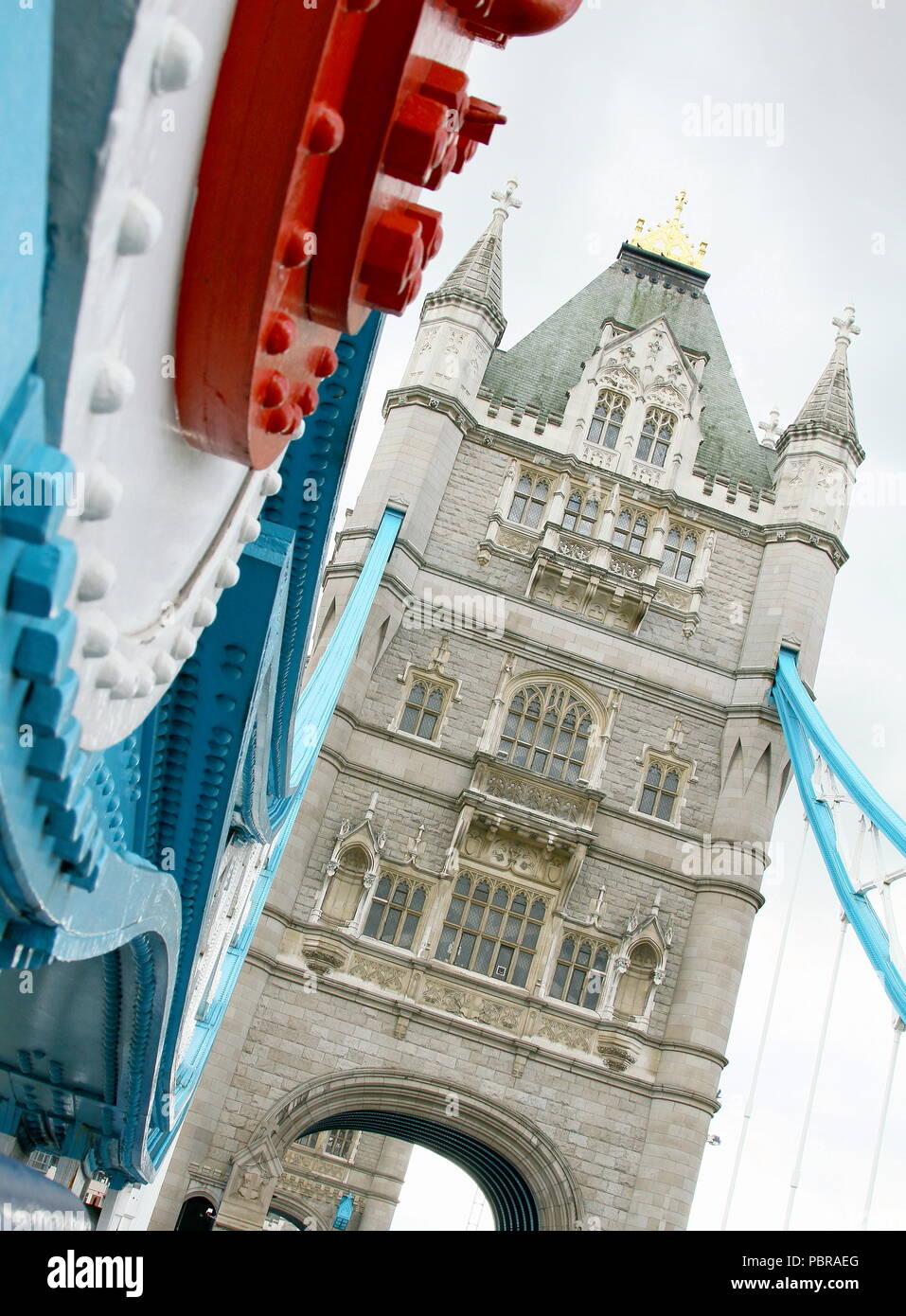 Tower Bridge London. Reisen. Stadt Brake. Stadt bremsen. Sehenswürdigkeiten von London. Historischen Gebäuden. Hauptstädte. Stockbild