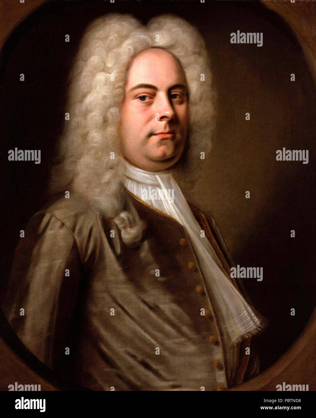 Porträt von Georg Friedrich Händel, Balthasar Denner, ca. 1726 Stockbild