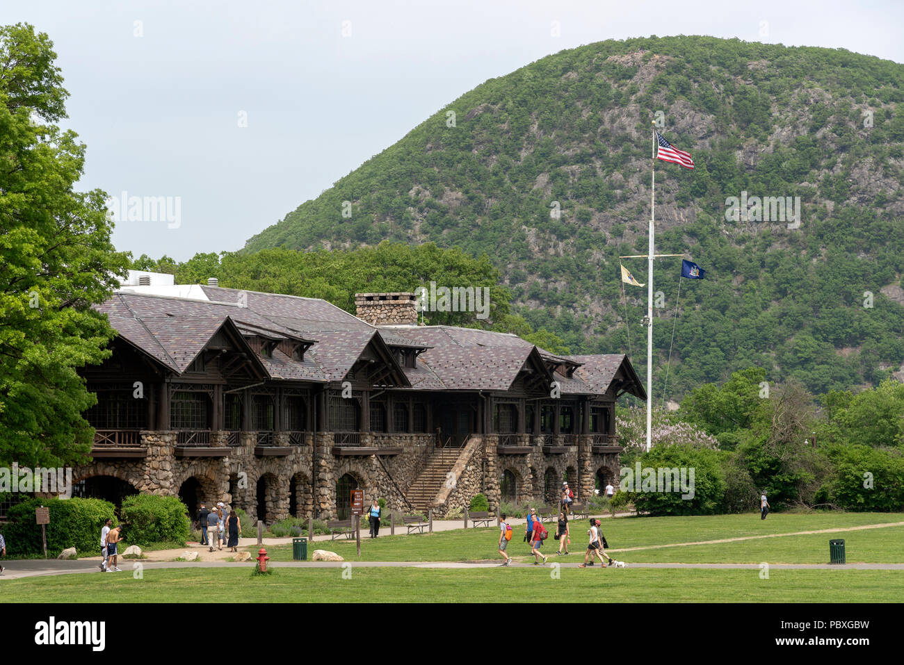 Bear Mountain National Park, Rockland County, New York State, USA. Bear Mountain Inn Stockbild