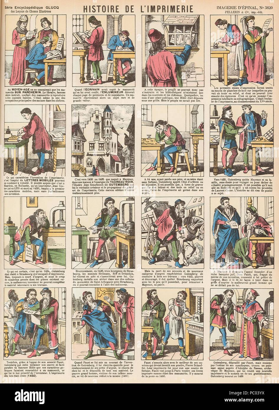12 Imagerie d'Épinal n° 12   Histoire de l'Imprimerie ...