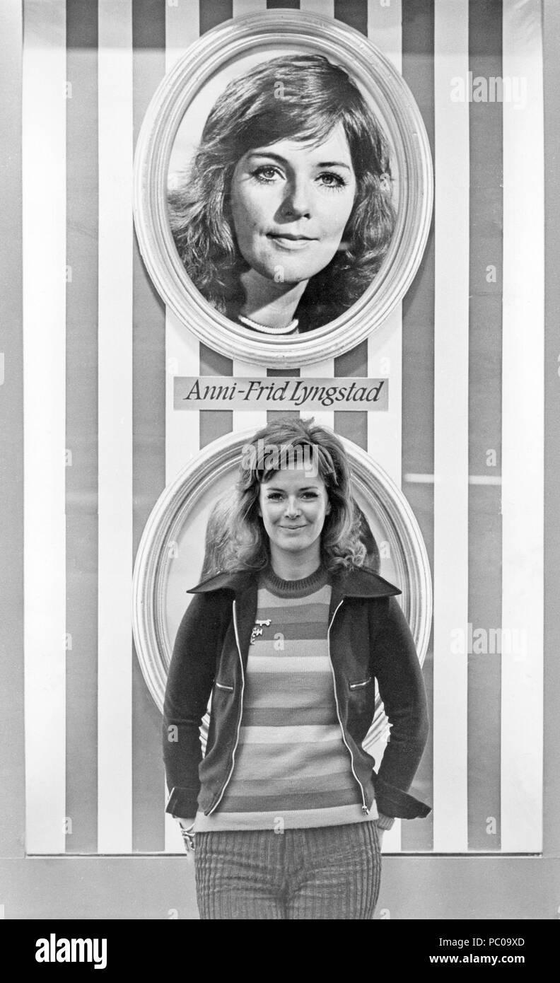 ABBA. Anni-Frid Lyngstad 1979 Stockbild