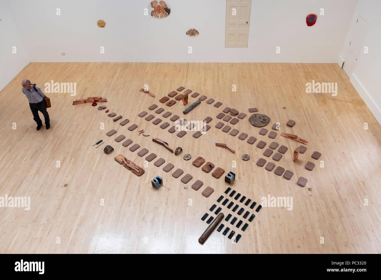 Ausstellung von Lucy Skaer berechtigt, La Chasse im Talbot Rice Gallery in der Universität von Edinburgh, Edinburgh, Schottland, Großbritannien Stockbild