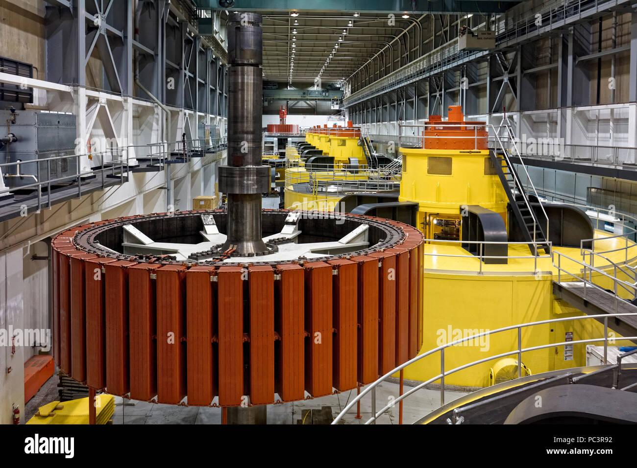Freiliegende hydroelektrischen Generator Rotor - Glen Canyon Dam, Page, Arizona Stockbild