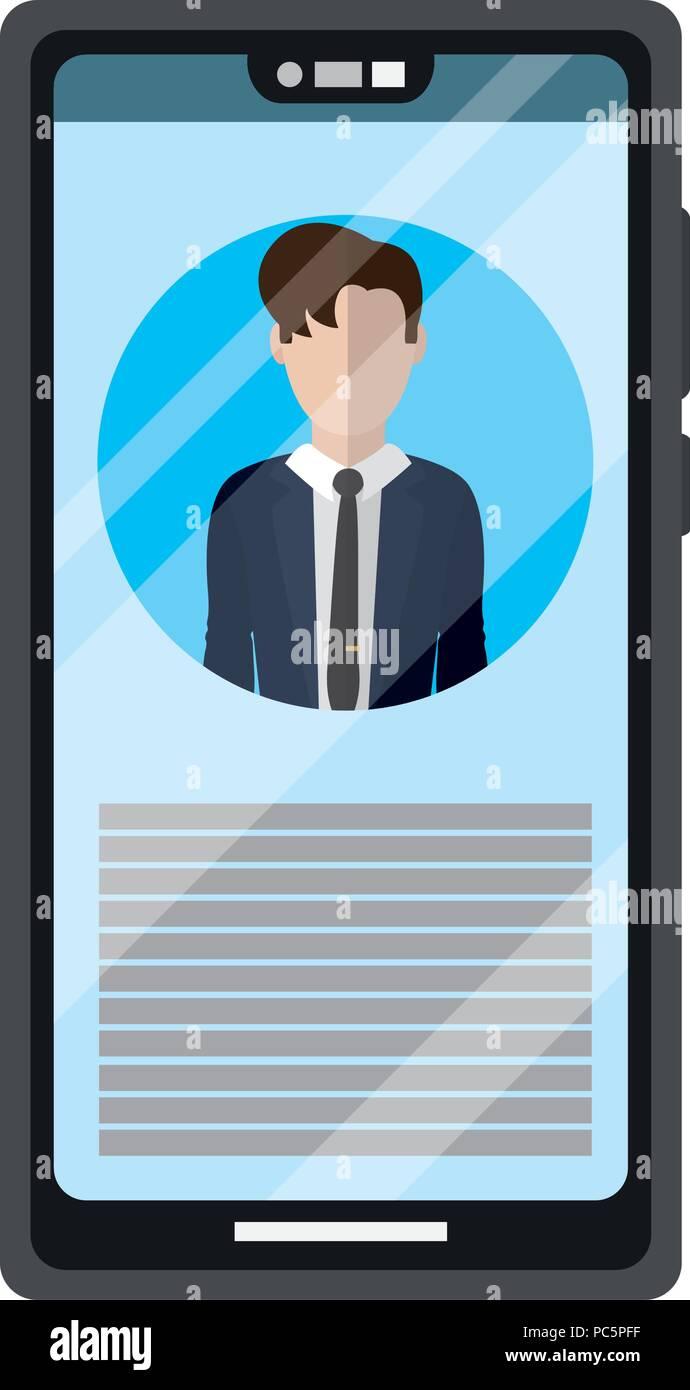 Smartphone journalist Daten reportage Informationen Stockbild
