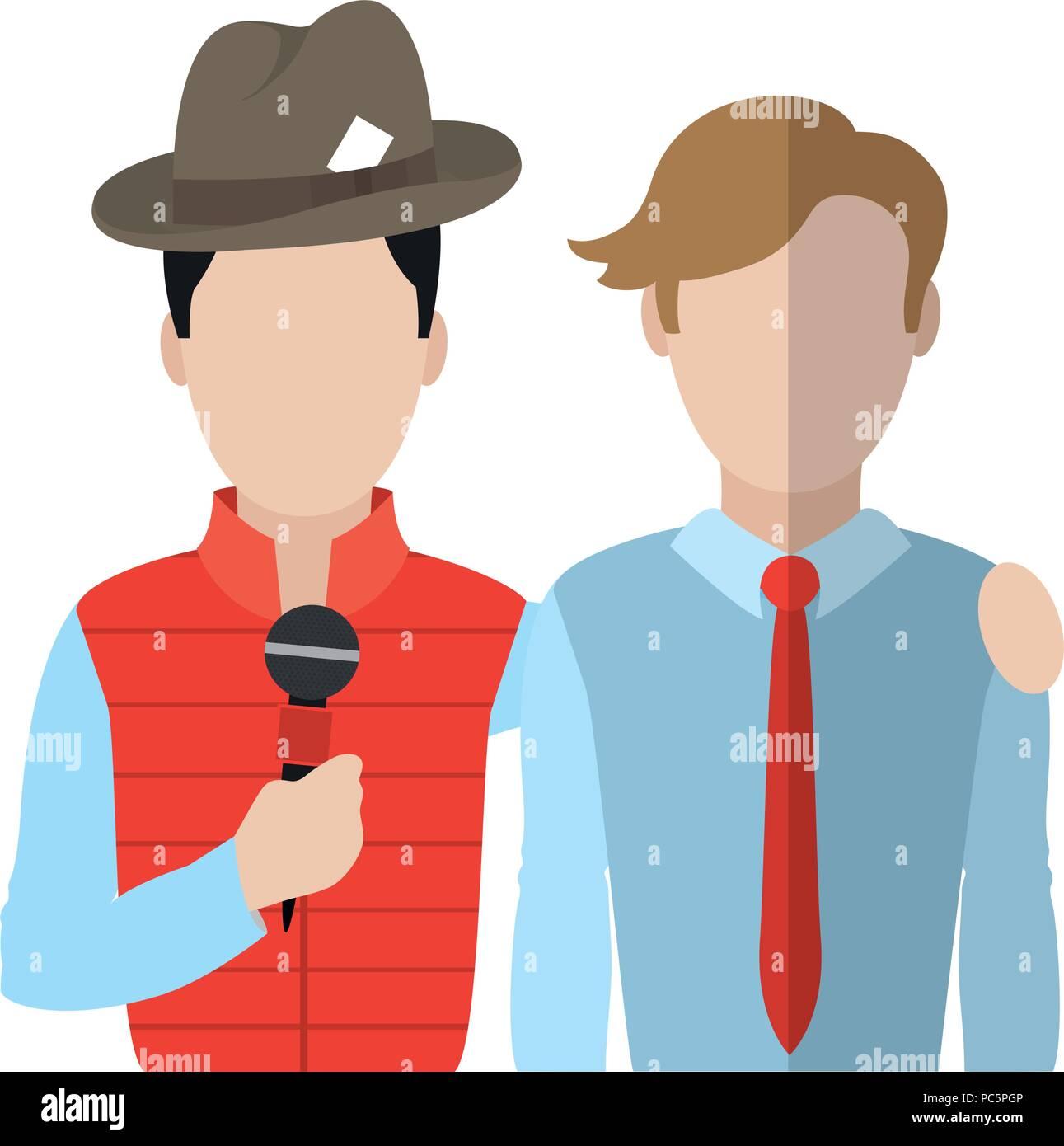 Professioneller Partner Journalist news Reportage Stockbild