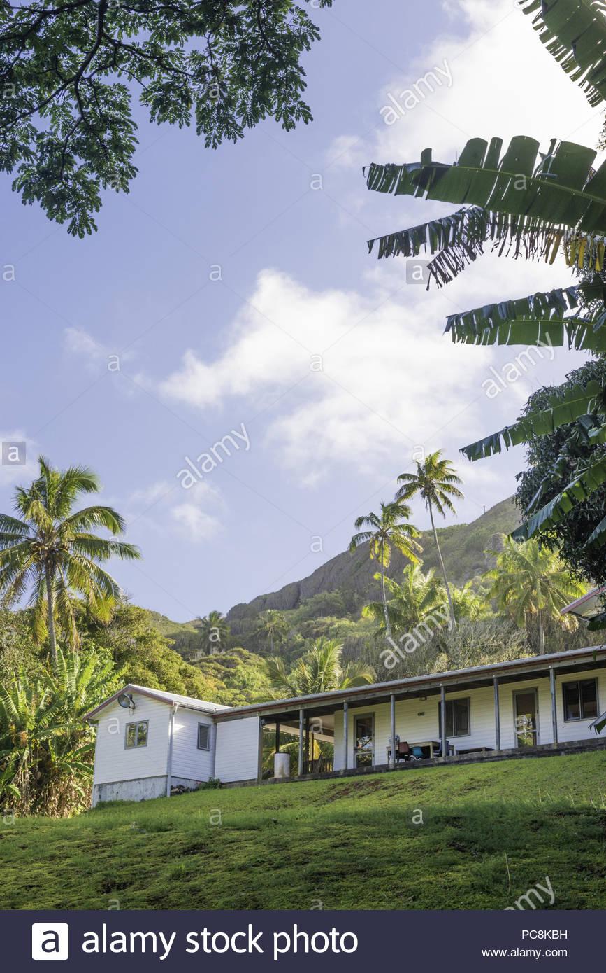 Die Schule in Pulau. Stockbild