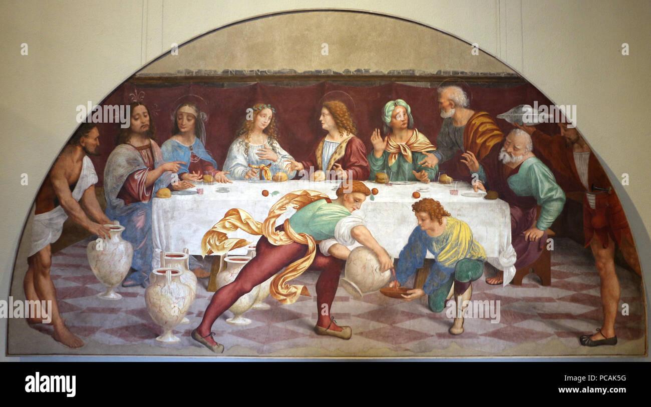 395 Marco D Oggiono Die Hochzeit Von Kana 1519 22 Da S M Della