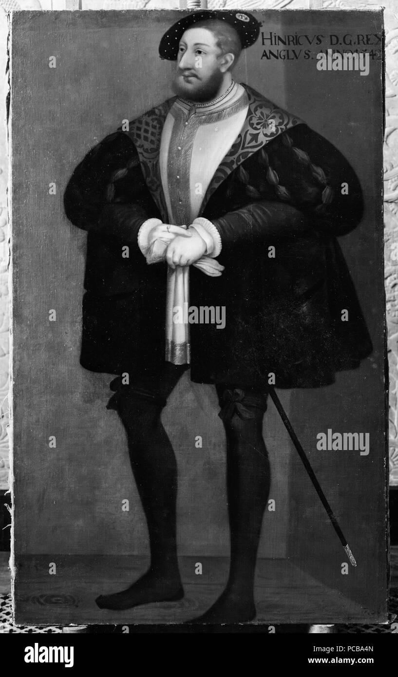 43 Henrik VIII, 1491-1547, konung av-England (David Frumerie) - Nationalmuseum - 15238 Stockfoto