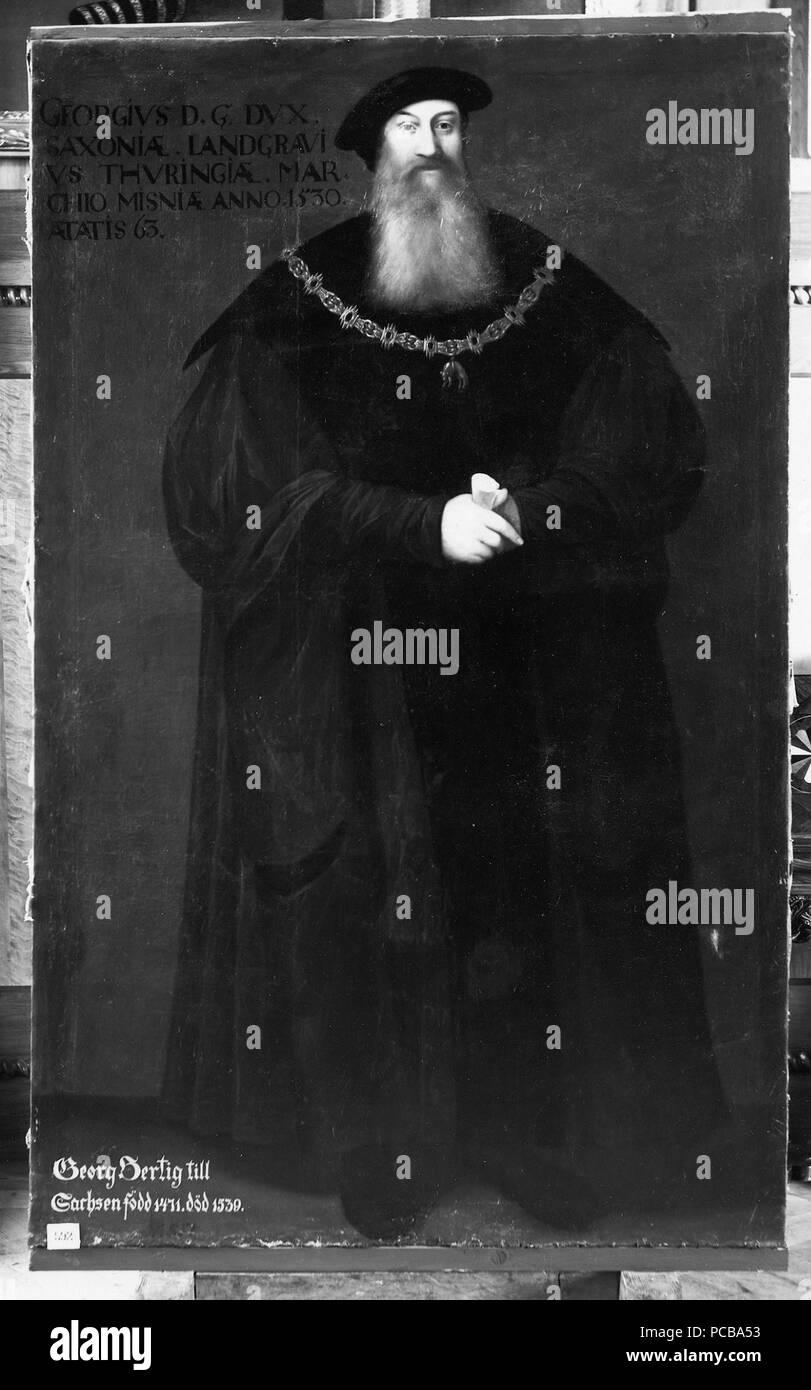 38 Georg, 1471-1539, hertig av Sachsen (David Frumerie) - Nationalmuseum - 15262 Stockfoto