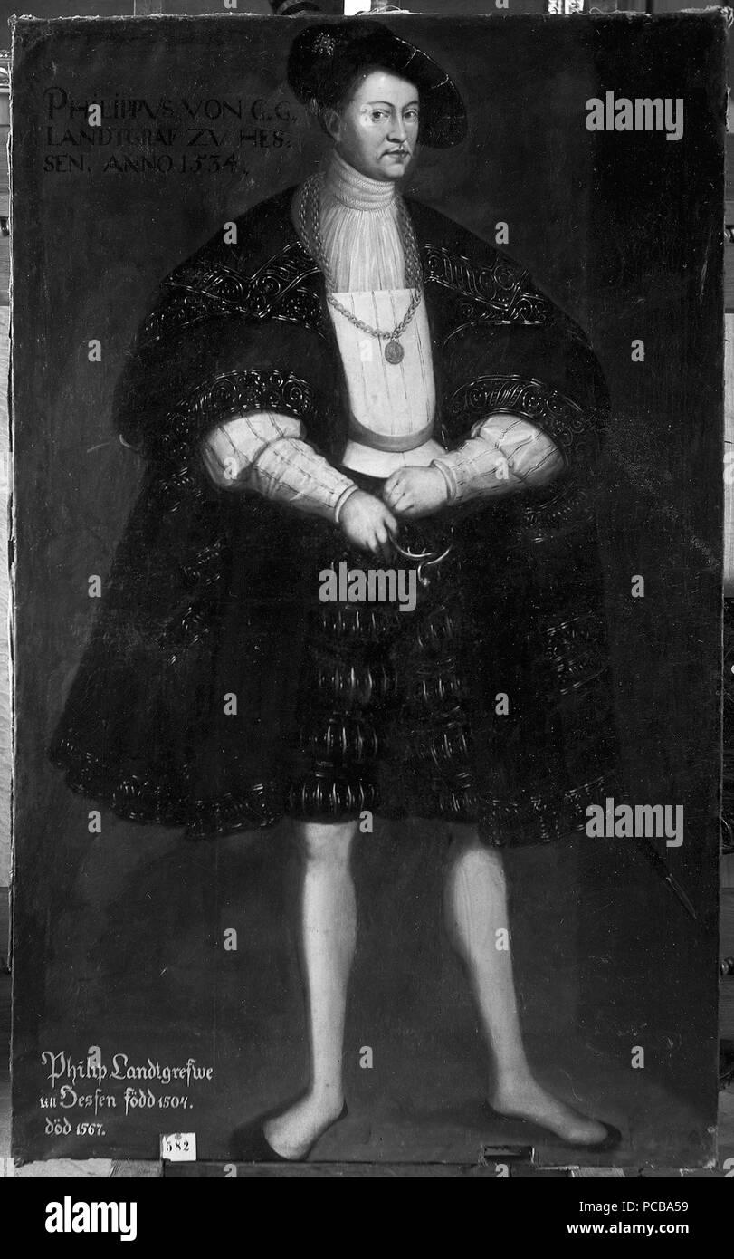 34 Filip I, 1504-1567, lantgreve av Hessen-Kassel (David Frumerie) - Nationalmuseum - 15252 Stockfoto