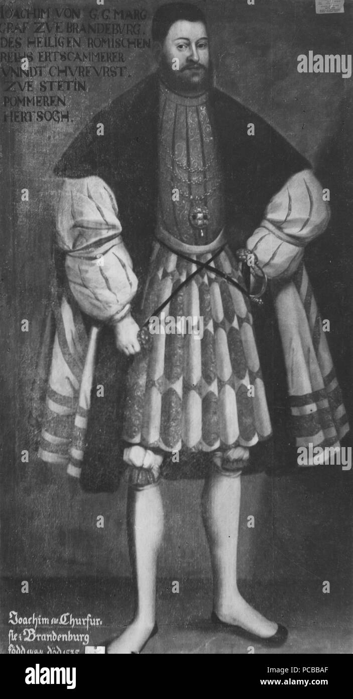 49 Joakim I, 1484-1535, kurfurste av-Brandenburg (David Frumerie) - Nationalmuseum - 15245 Stockfoto