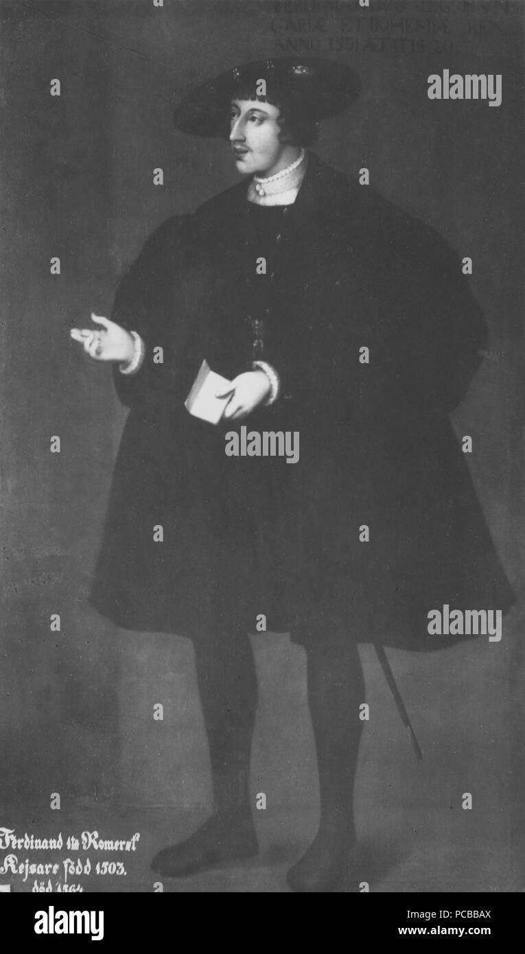 33 Ferdinand I, 1503-1564, tysk-romersk kejsare, konung av Österrike (David Frumerie) - Nationalmuseum - 15268 Stockfoto