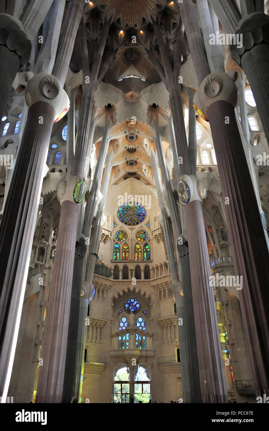 Barcelona, Kathedrale Sagrada Familia. Von Gaudi, La Sagrada Familia, Barcelona, Katalonien, Spanien | von Gaudi, La Sagrada Familia, Barcelona, Catalonien, Spani Stockbild