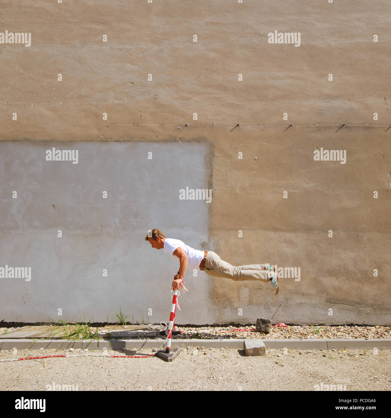 Springen, Gymnastik, Parkour Stockbild