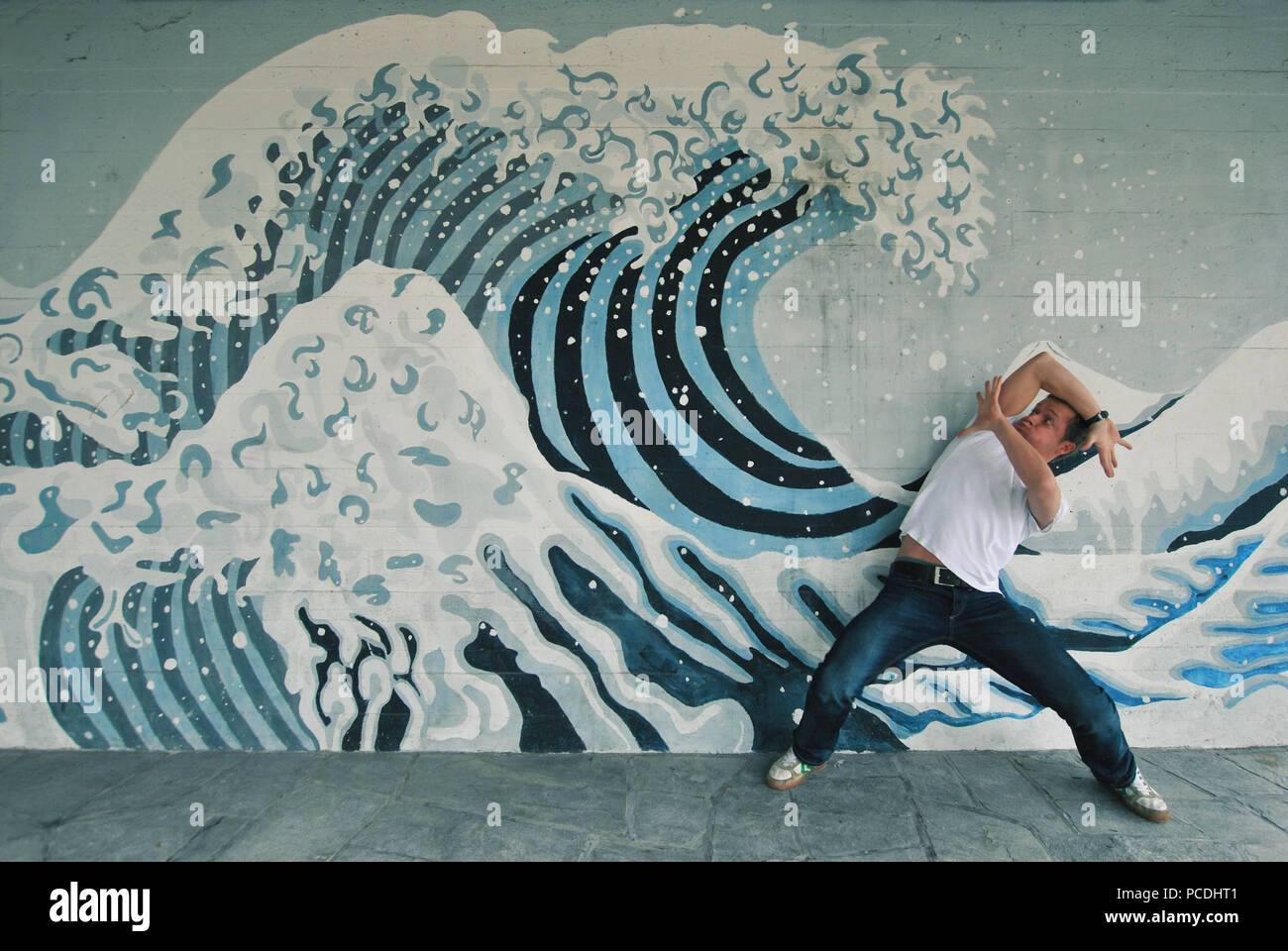 Flut, Wave, Schützen, Tsunami Stockbild