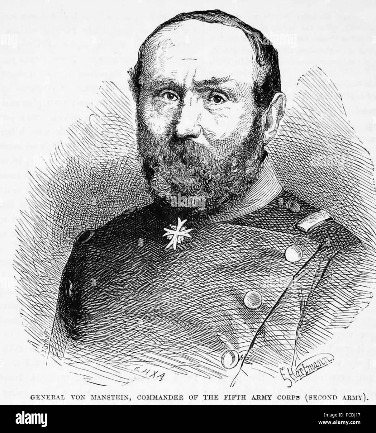 Albrechts von MANSTEIN (1805-1877), preußischer General Stockbild