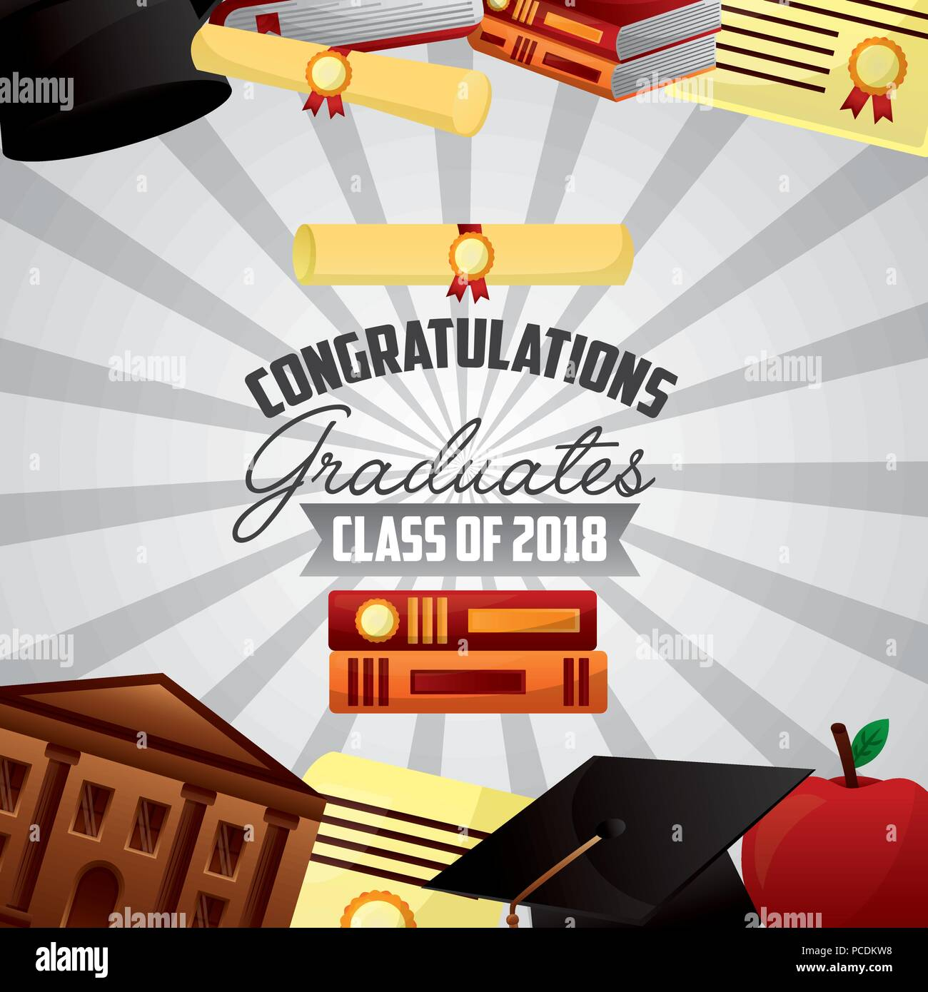 Class 2018 Congratulations Graduate Typography Stockfotos & Class ...