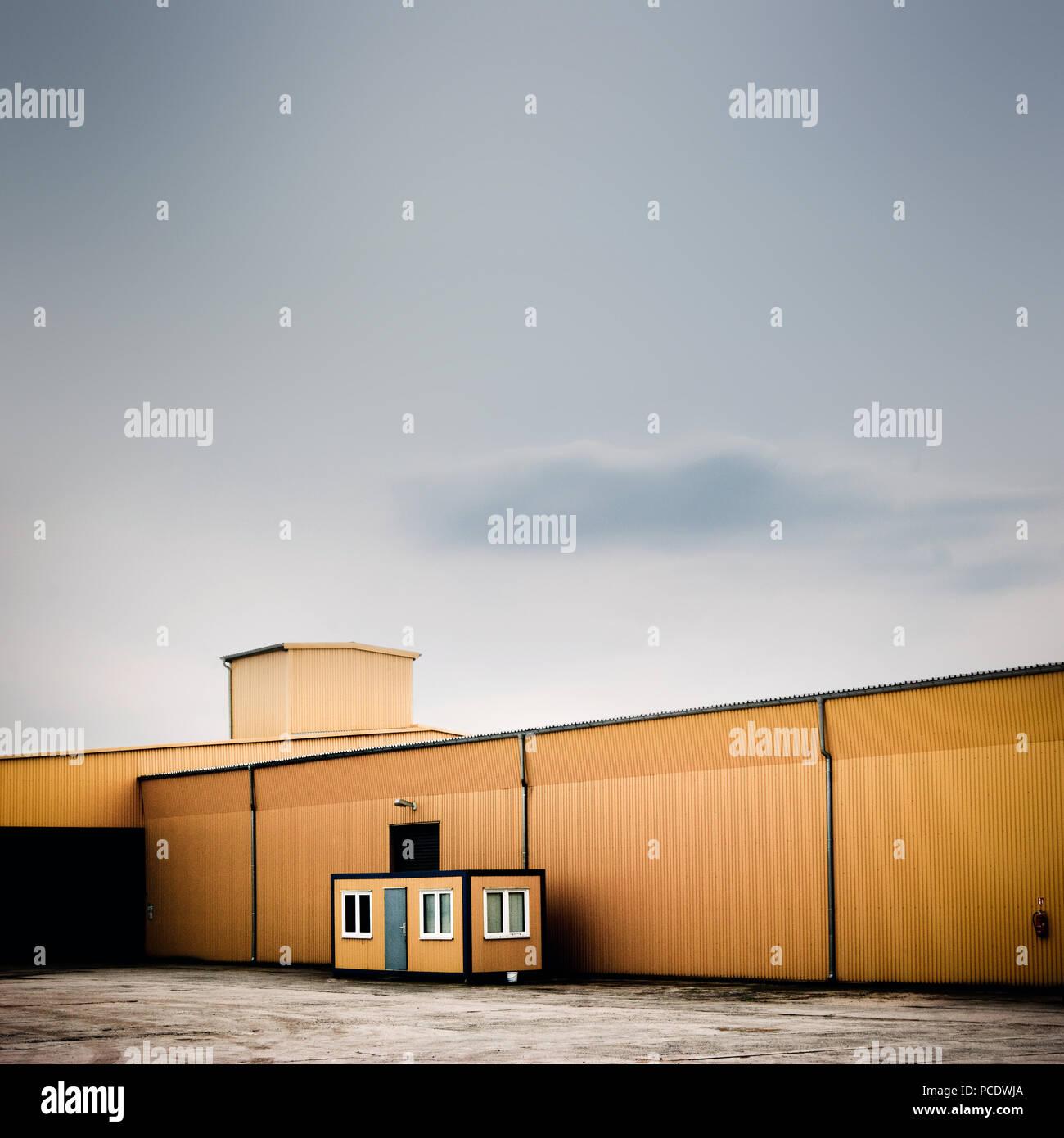 Industrial Building, Lager, Fabrik gebäude Stockbild