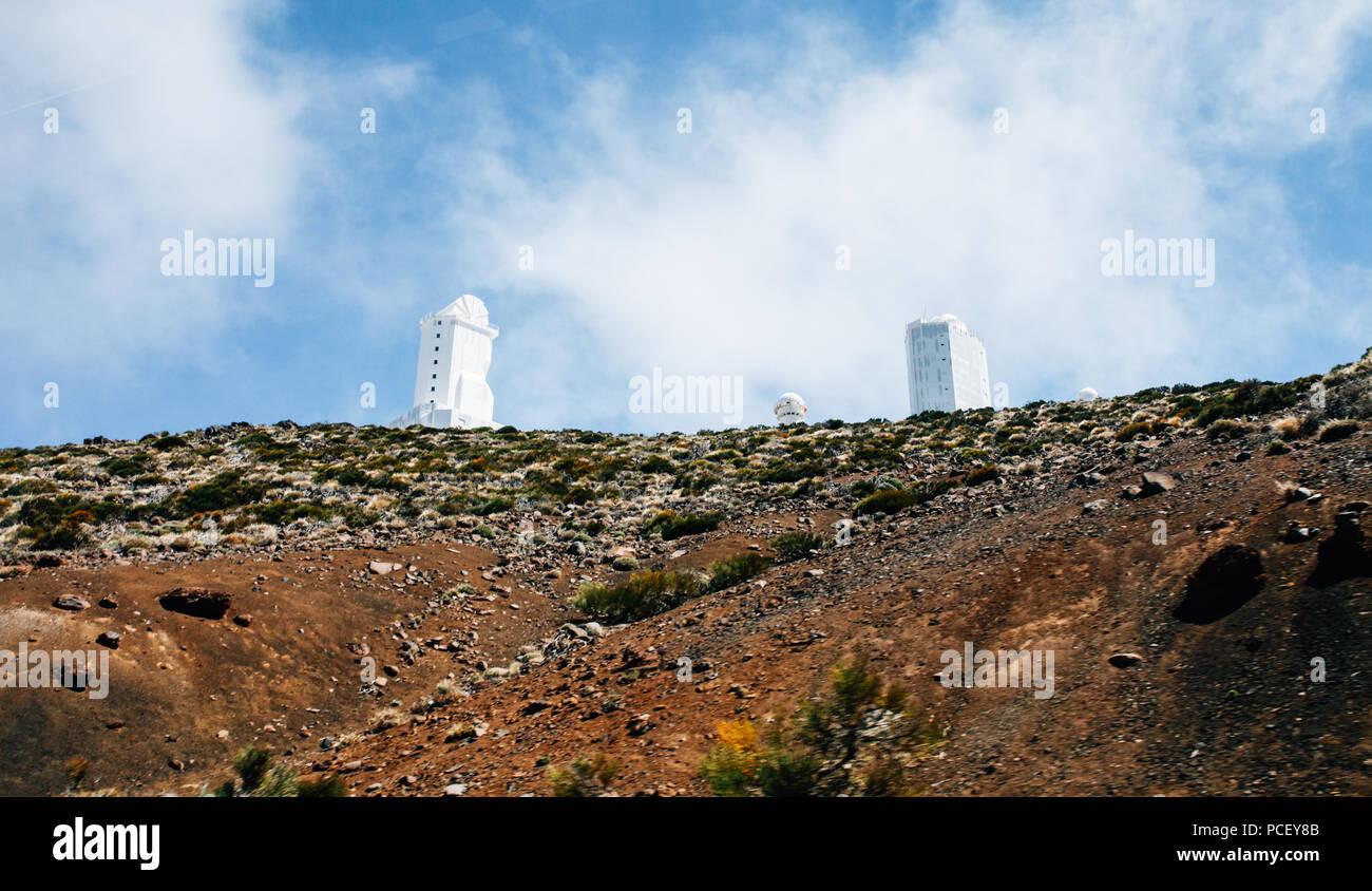 Teide observatorium astronomische teleskope in teneriffa