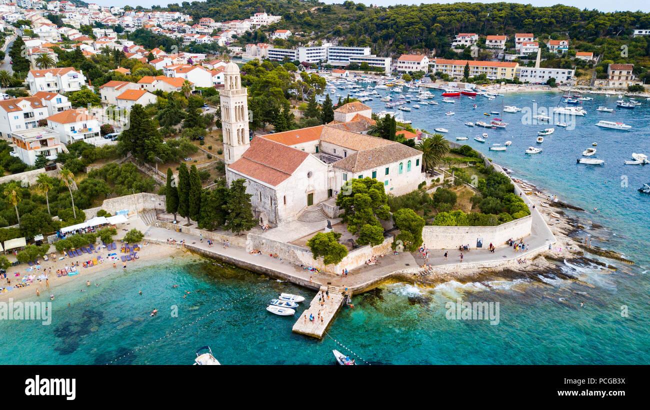 Franziskanerkloster oder Franjeva?ki samostan, Hvar, Kroatien Stockbild