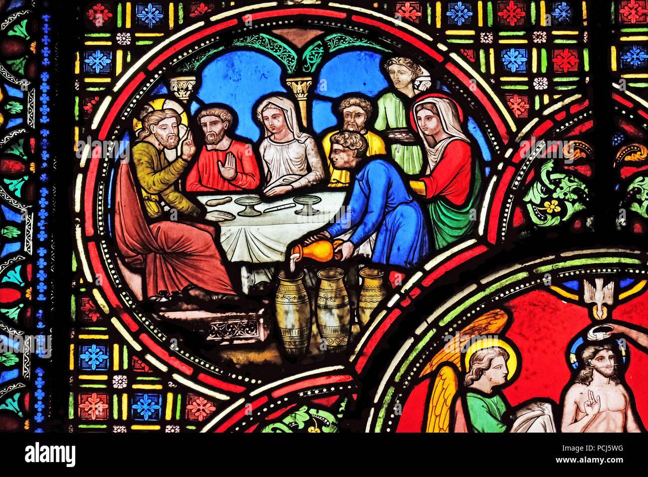 Hochzeit Von Kana Die Glasfenster Von St Germain L Auxerrois