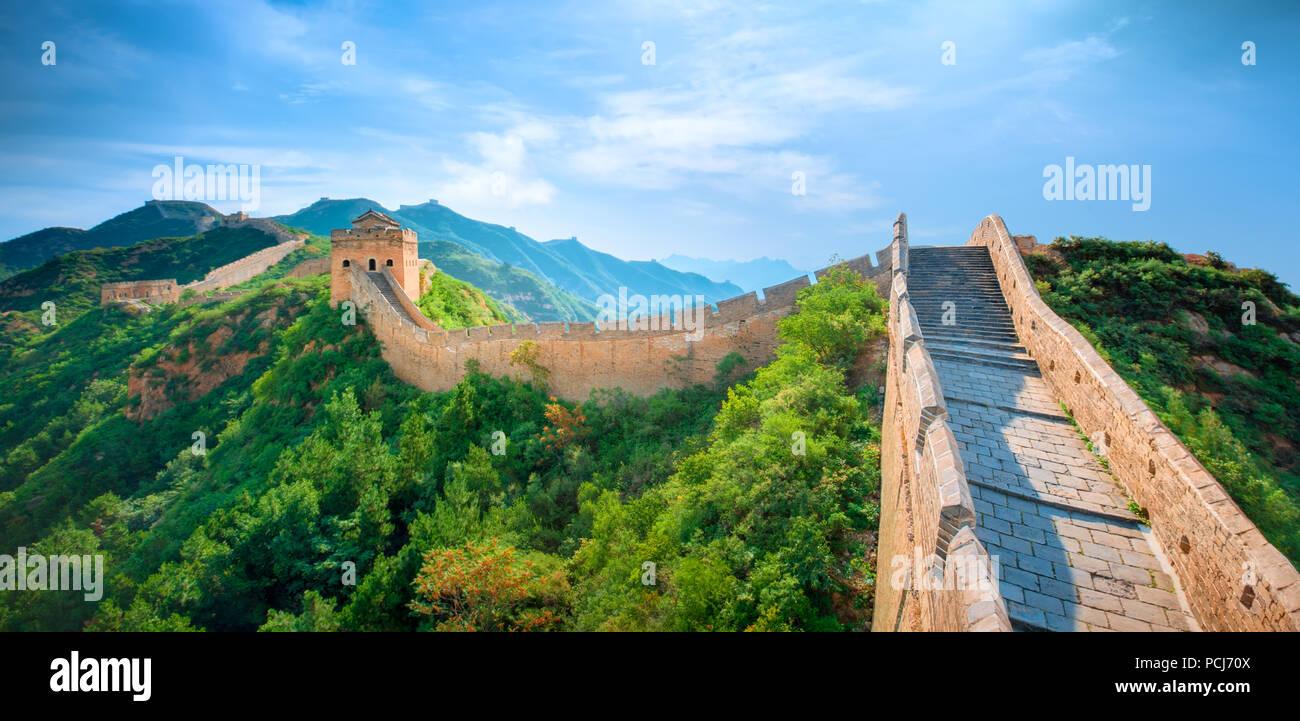 Die große Mauer, die Wunder der Welt Stockbild