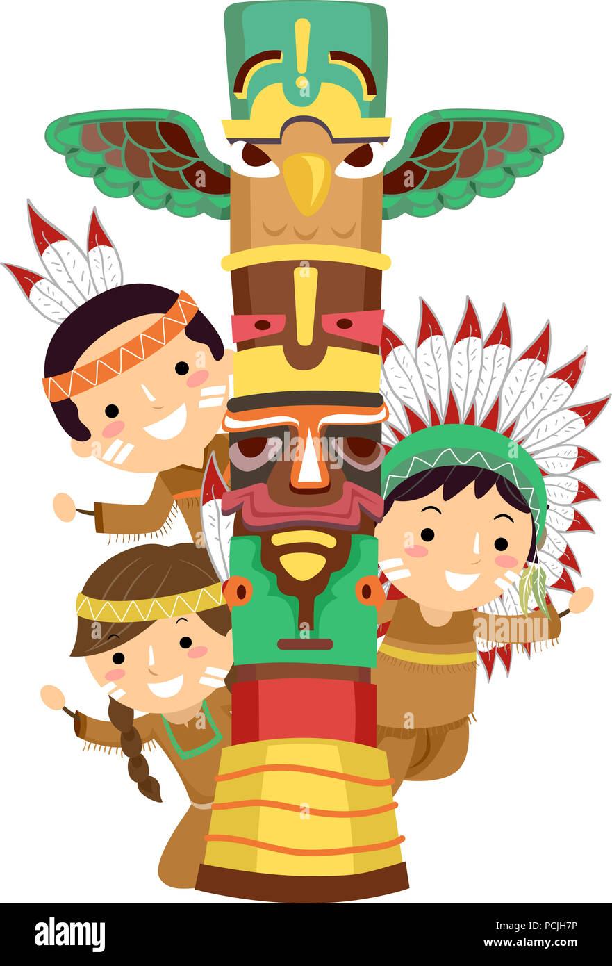Indianer Kinder