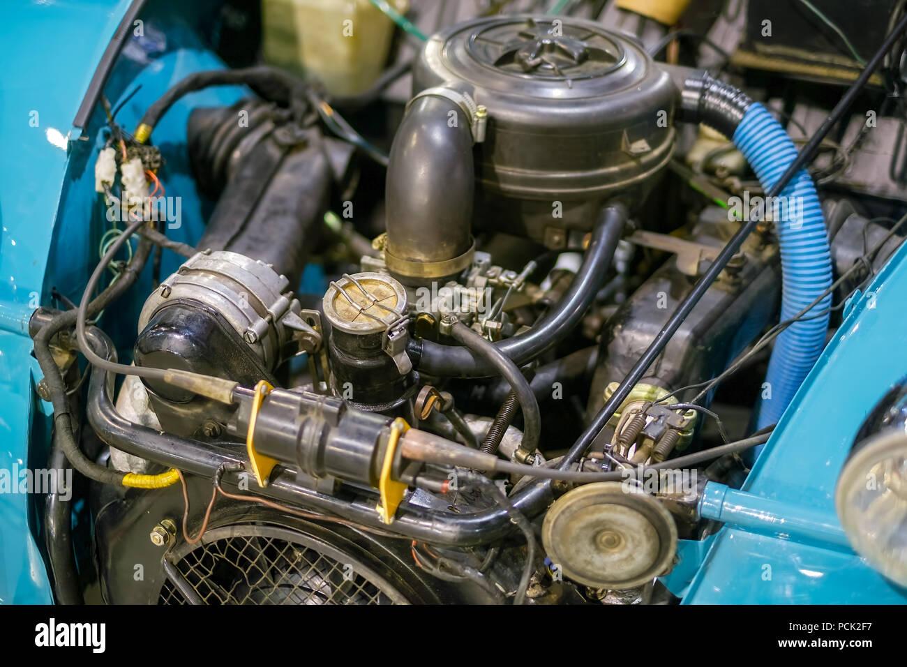 Altes Auto Motor Stockfoto Bild 214319371 Alamy