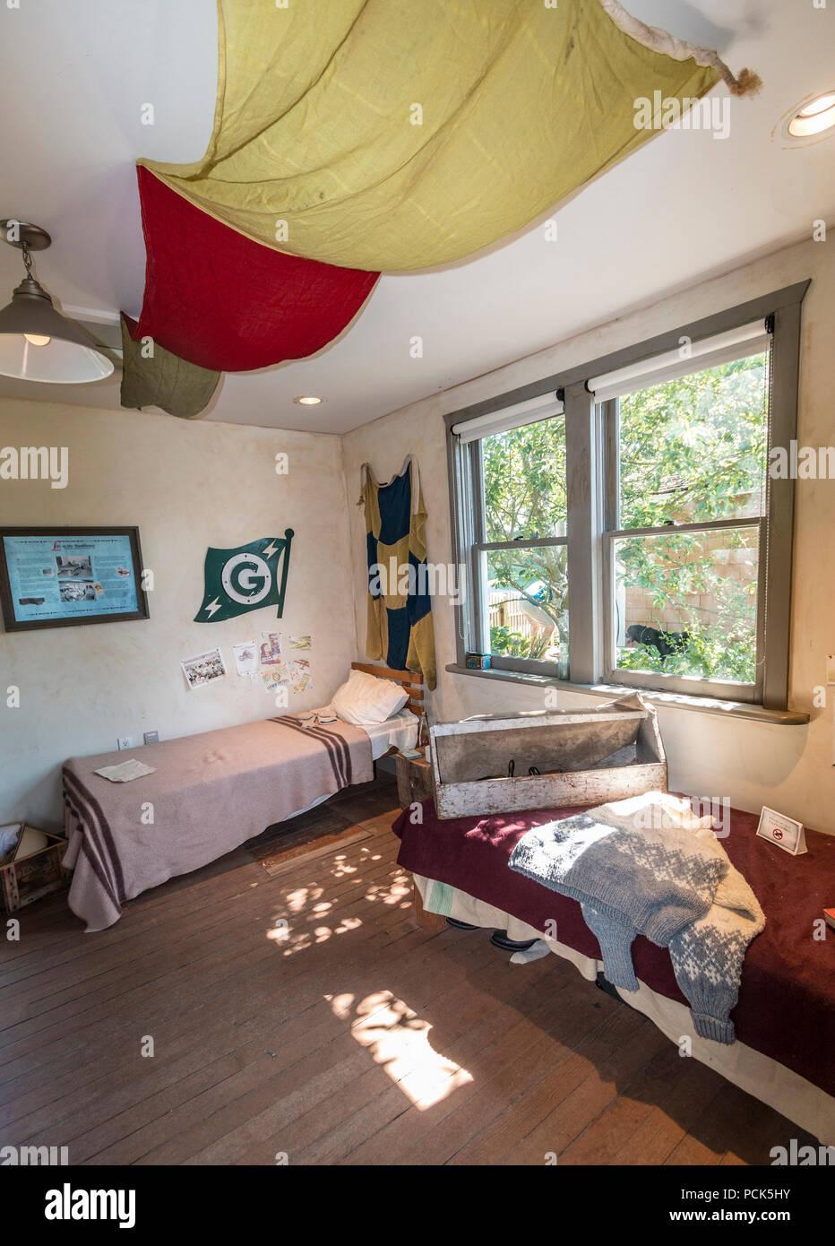 Schlafzimmer in der Europäischen Männer bunkhouse im Britannia ...