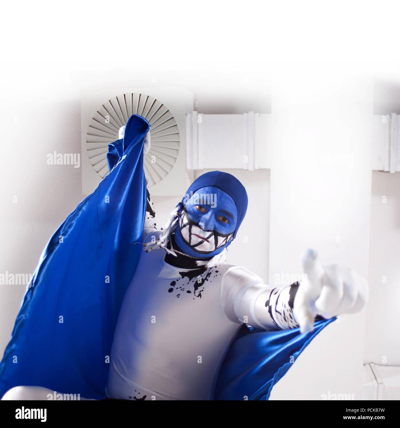 Stadium Kostüm, Schauspieler, Held Stockbild