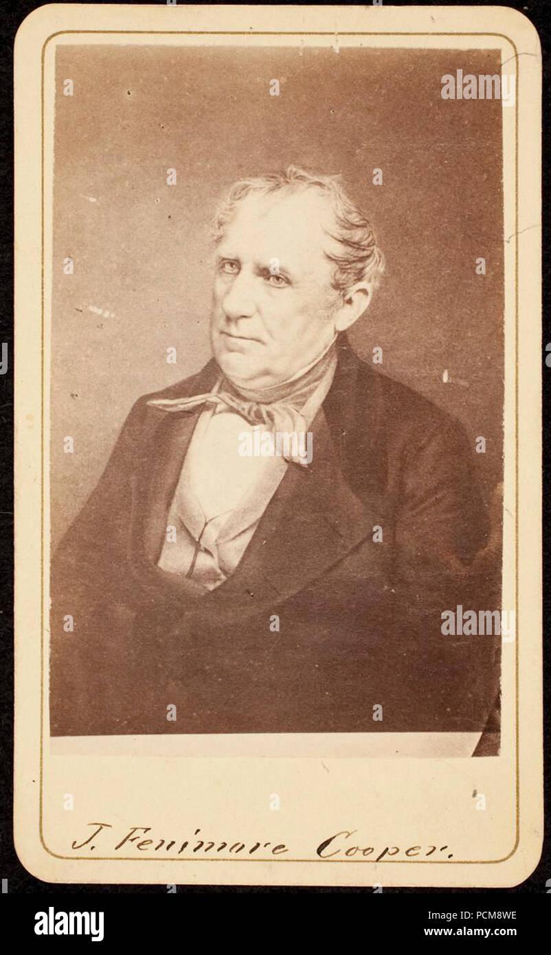 Eiklar Carte De Visite Von James Fenimore Cooper Stockbild