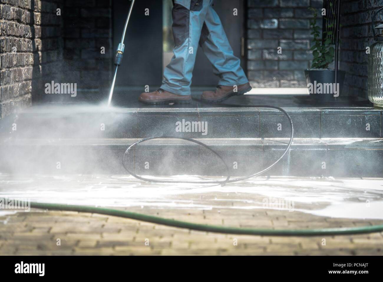 Favorit Hochdruckreiniger reinigen. Männer Reinigung außer Haus Treppen IZ47