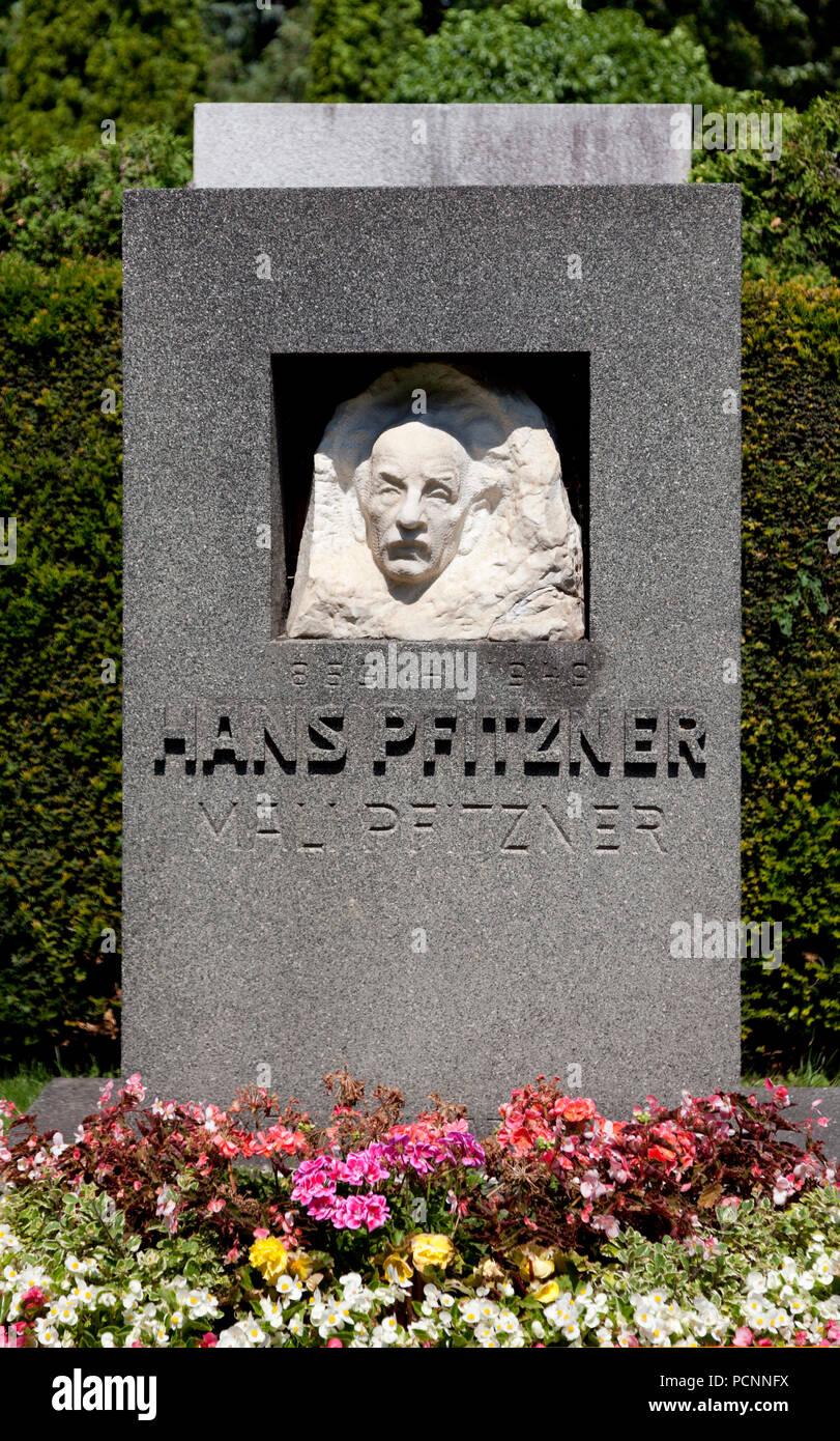 Grabmal von Hans Pfitzner, Musiker und Schriftsteller 1869-1949 Stockbild