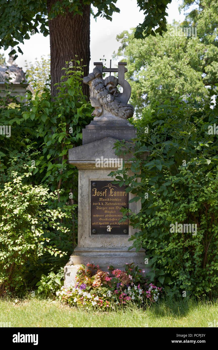 Grabmal von Josef Lanner, 1801-1843 Stockbild