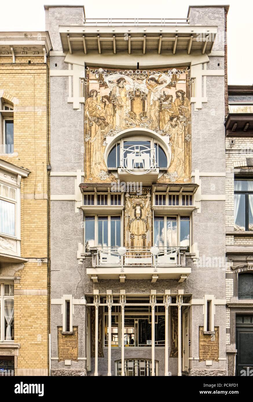 Maison Cauchie, 5 rue des Francs. Paul Cauchet-Carolina Voet ...