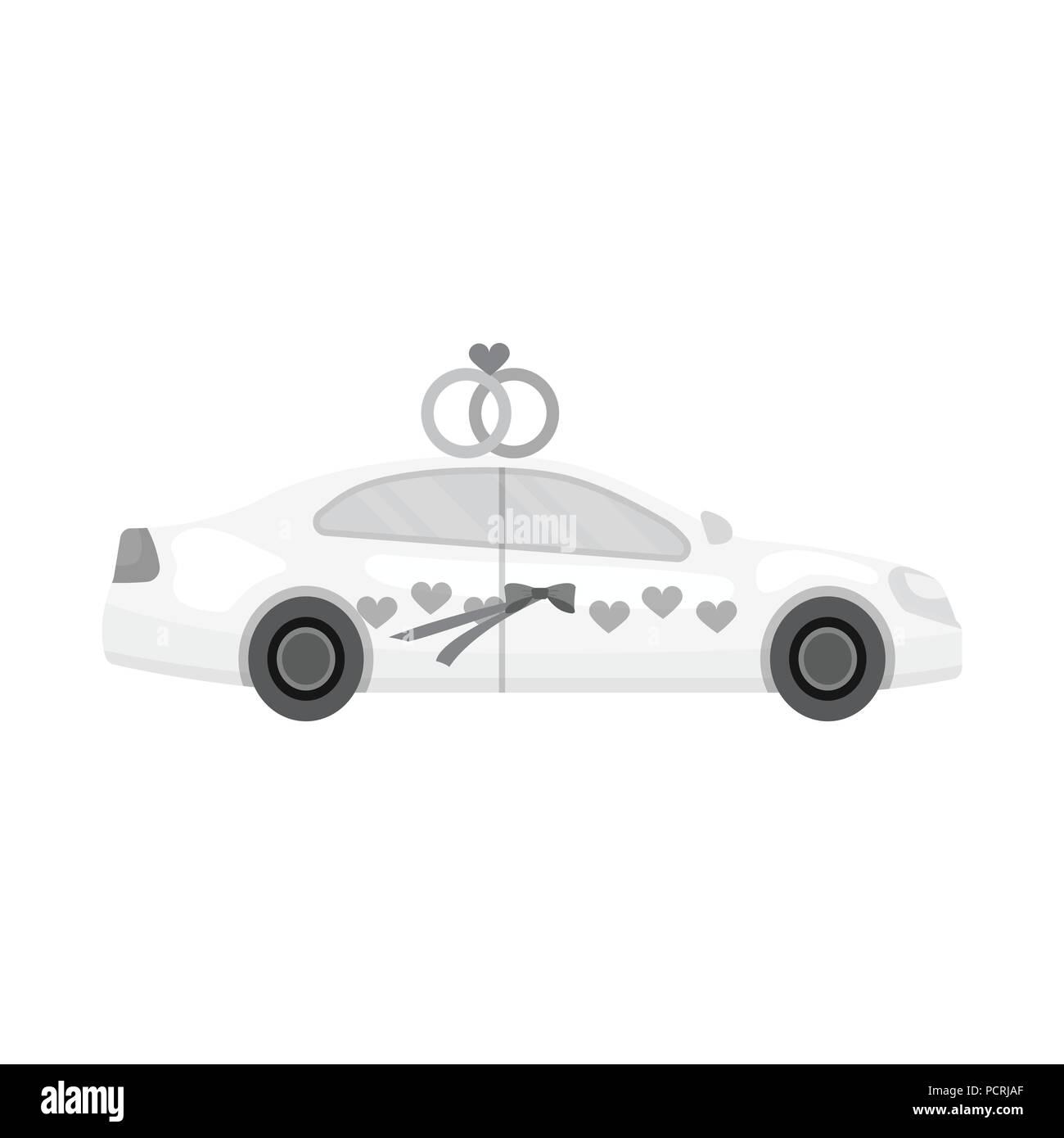 White Wedding Auto Mit Ringen Auto Fur Braut Und Brautigam
