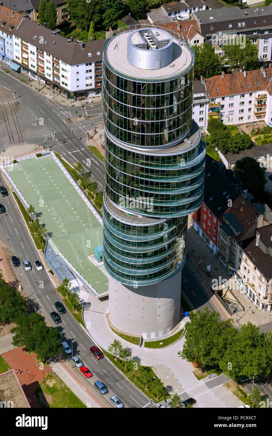 Exzenter, Office Tower Universitätsstraße, Luftaufnahme von Bochum Stockbild