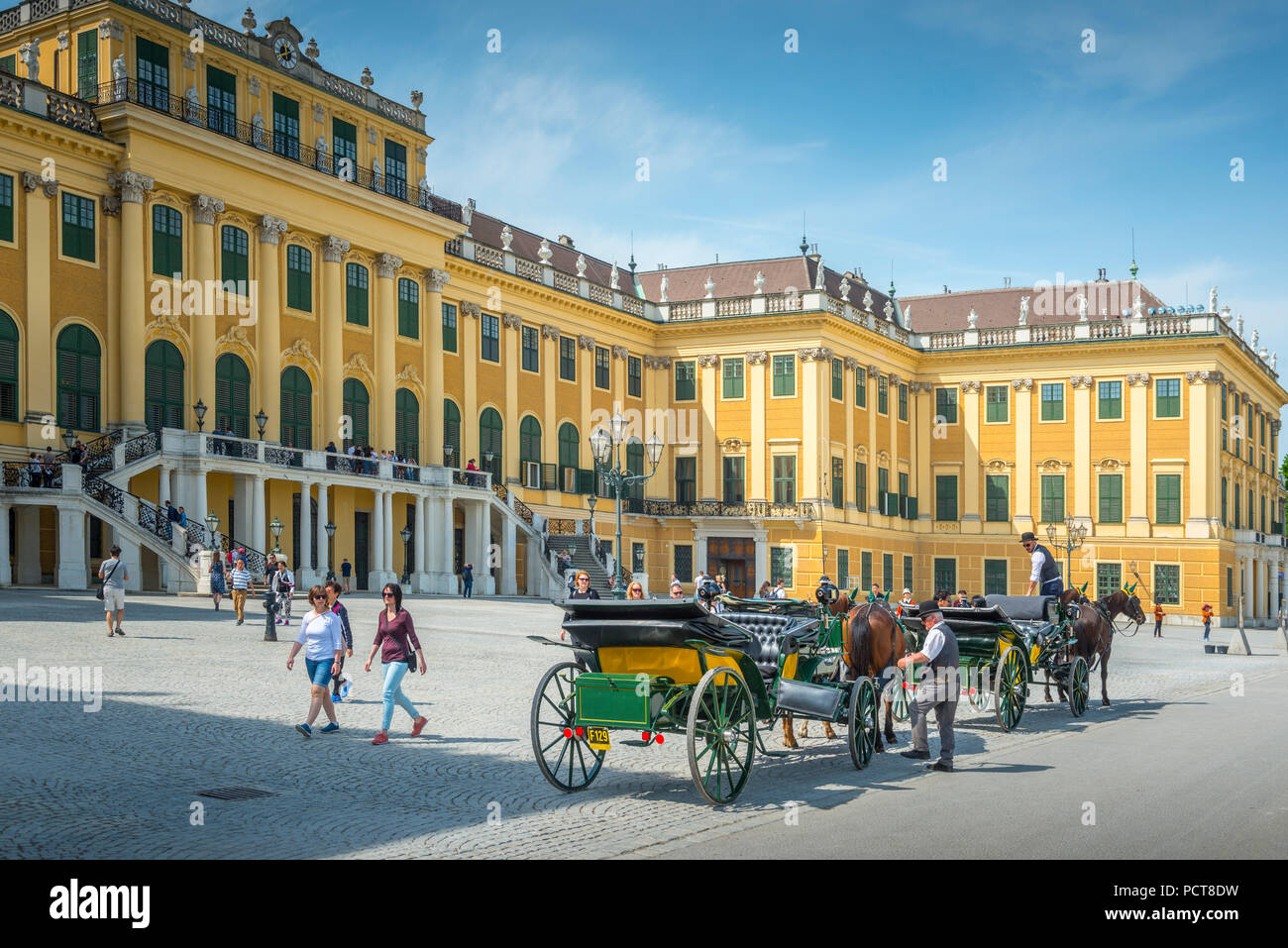 Europa, Österreich, Wien, Schloss, Palast, das Schloss Schönbrunn, Wien, Österreich, Architektur, Kapital Stockbild