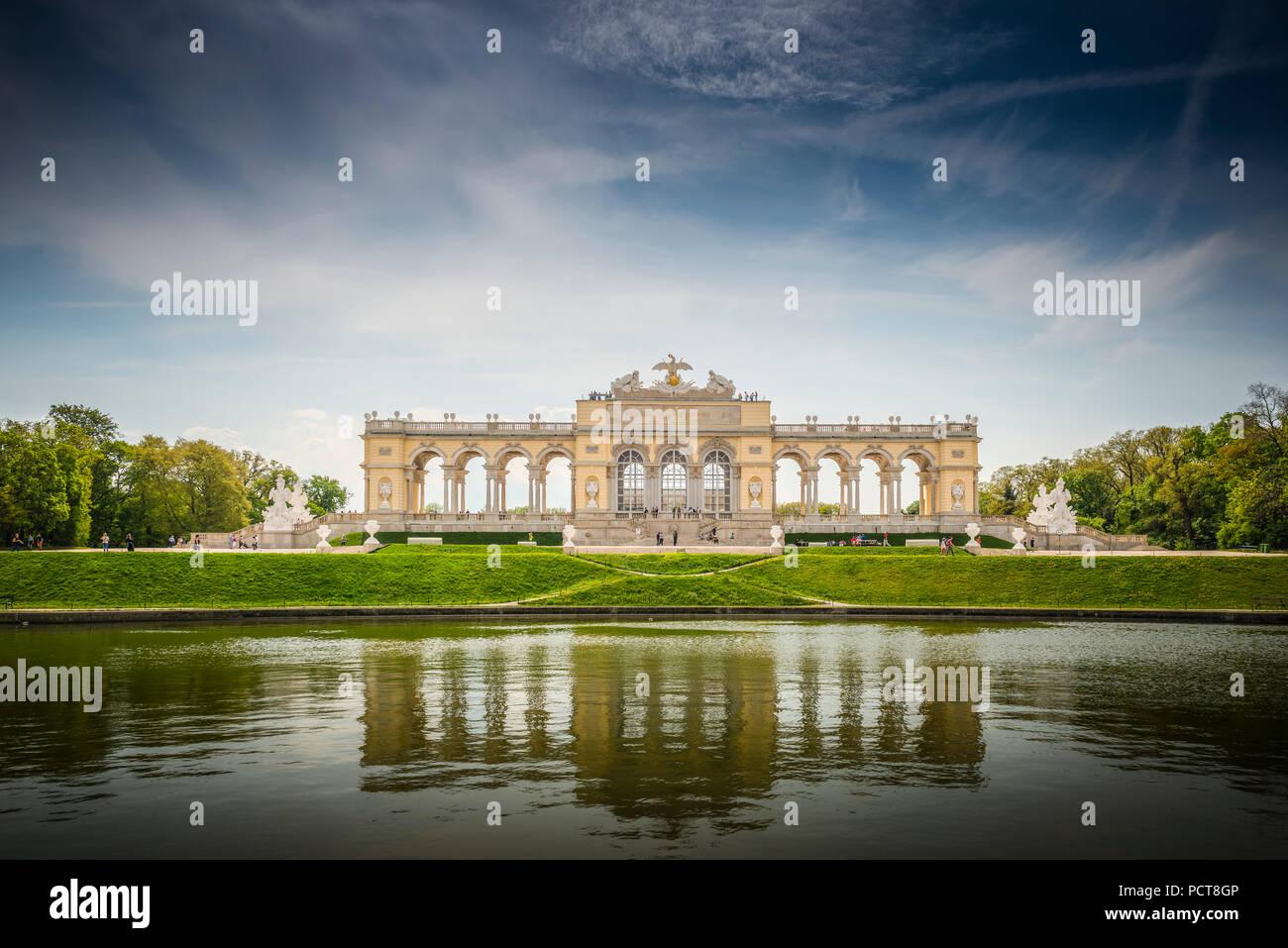 Europa, Österreich, Wien, Schloss, Palast, das Schloss Schönbrunn, Gloriete, Schlosspark, Wien, Österreich, Architektur, Kapital Stockbild