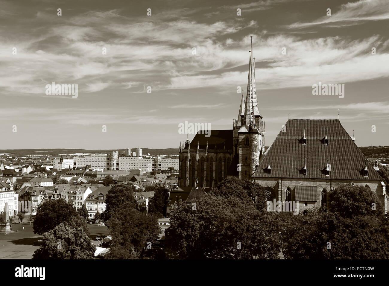 Erfurt, Domplatz. Stockbild