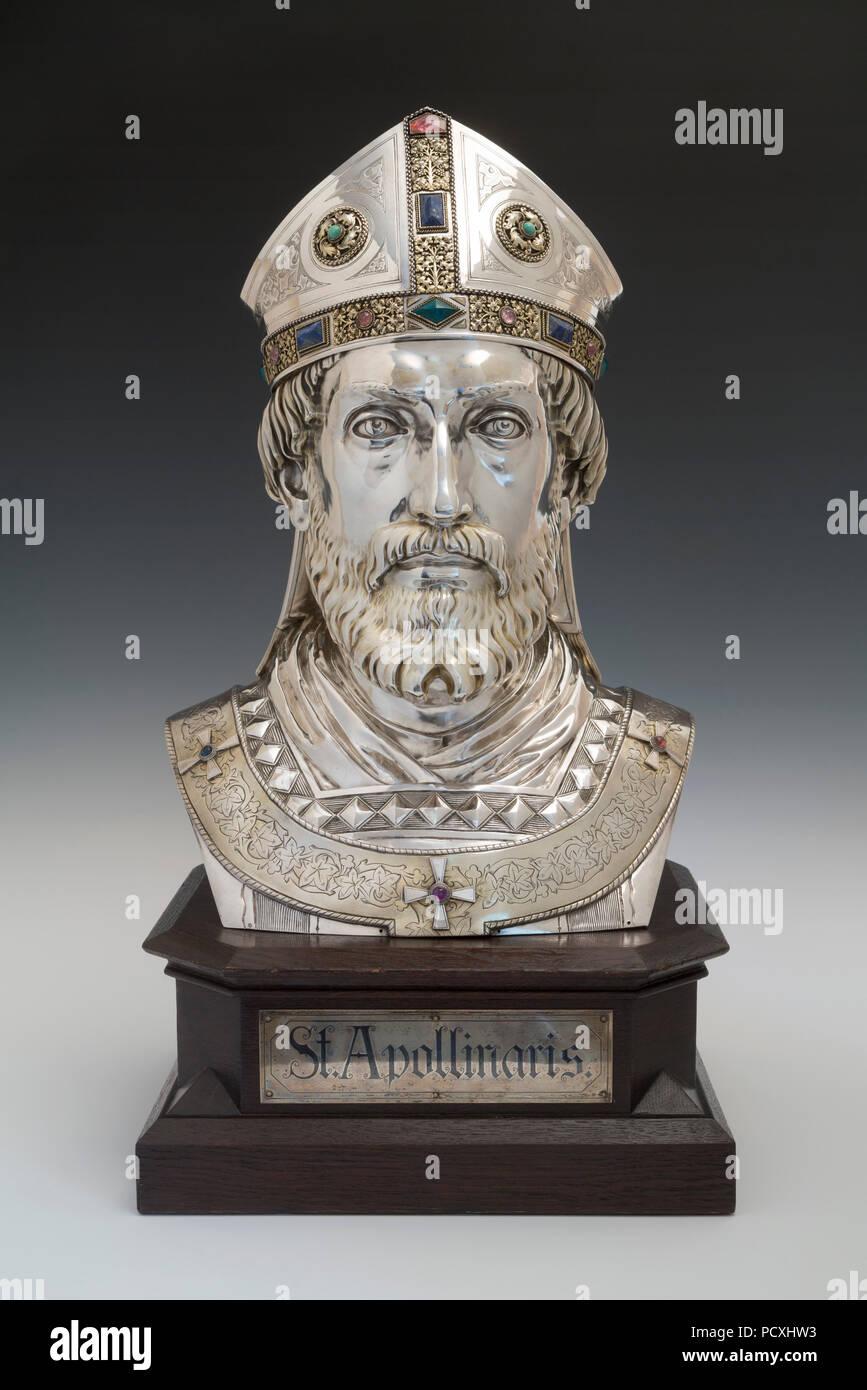 Reliquienbüste des heiligen Apollinaris Stockbild